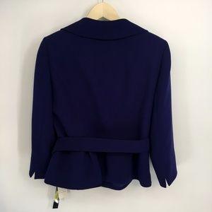 Tahari Jackets & Coats - Tahari Purple Trapeze Jacket With Belt
